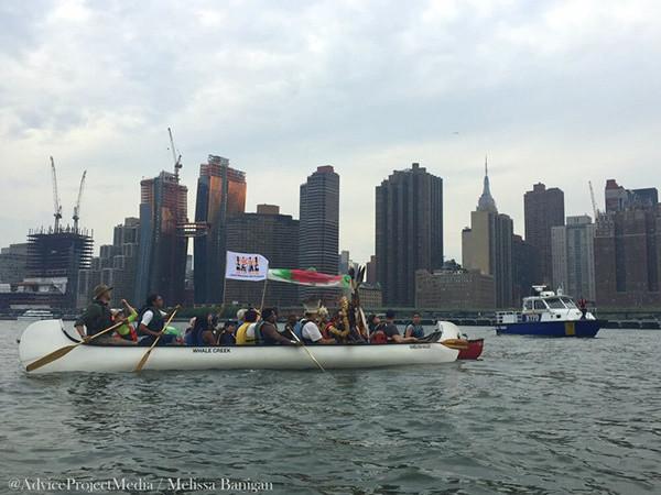 Protesta en East River NY