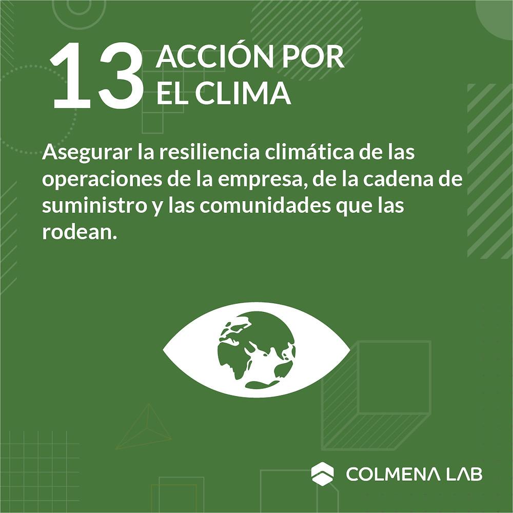 Objetivo de desarrollo sostenible 13 Acción por el Clima
