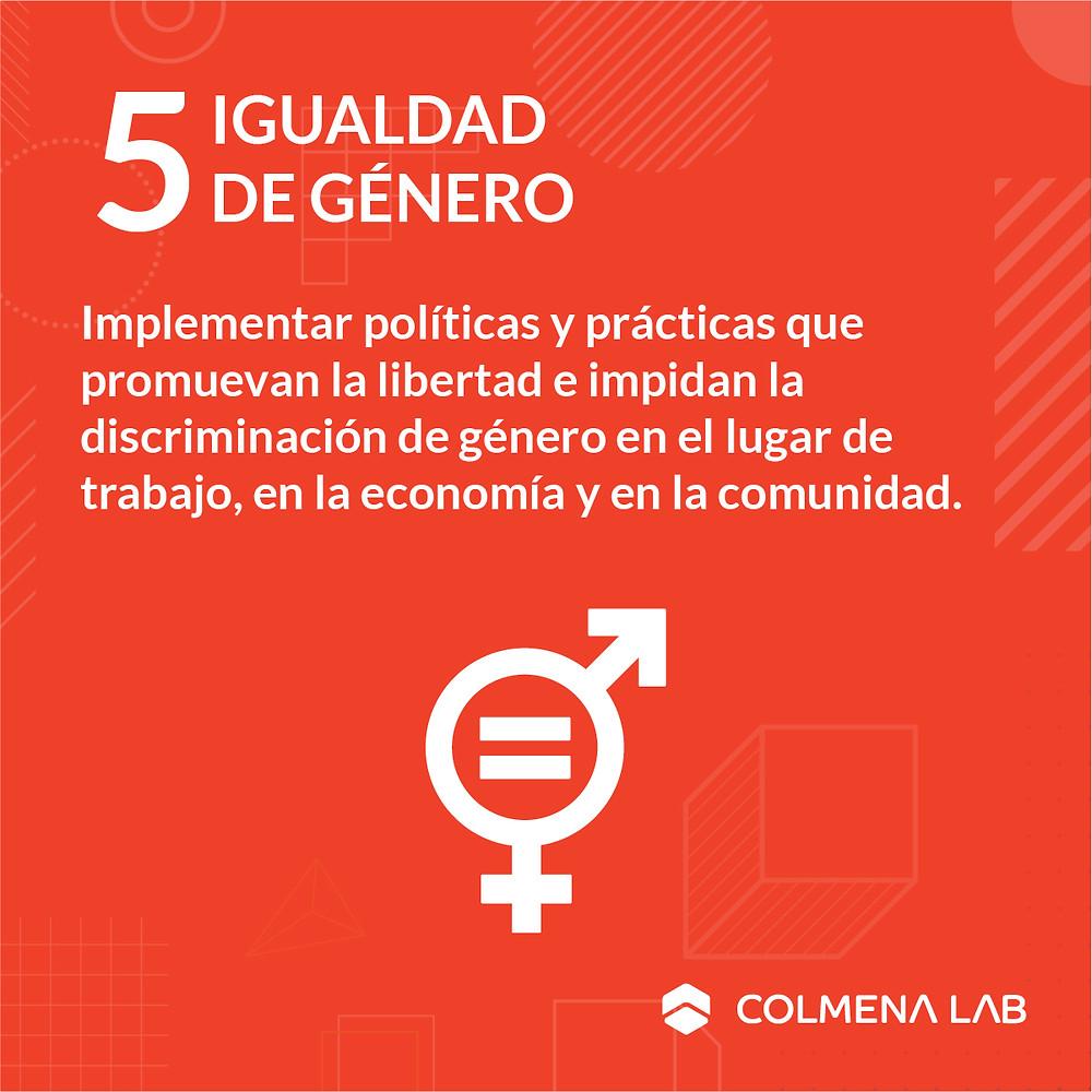 Objetivo de desarrollo sostenible 5 Igualdad de Género