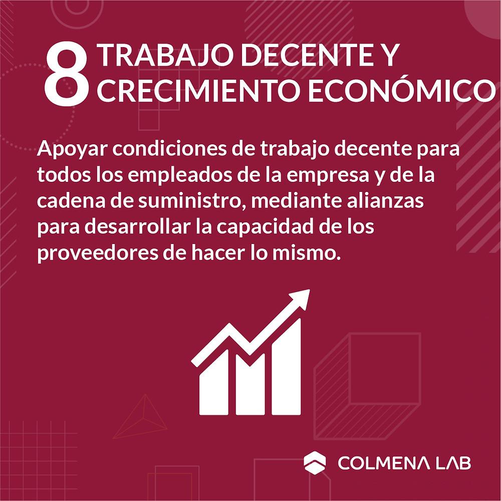 Objetivo de desarrollo sostenible 8 Trabajo Decente y Crecimiento Económico