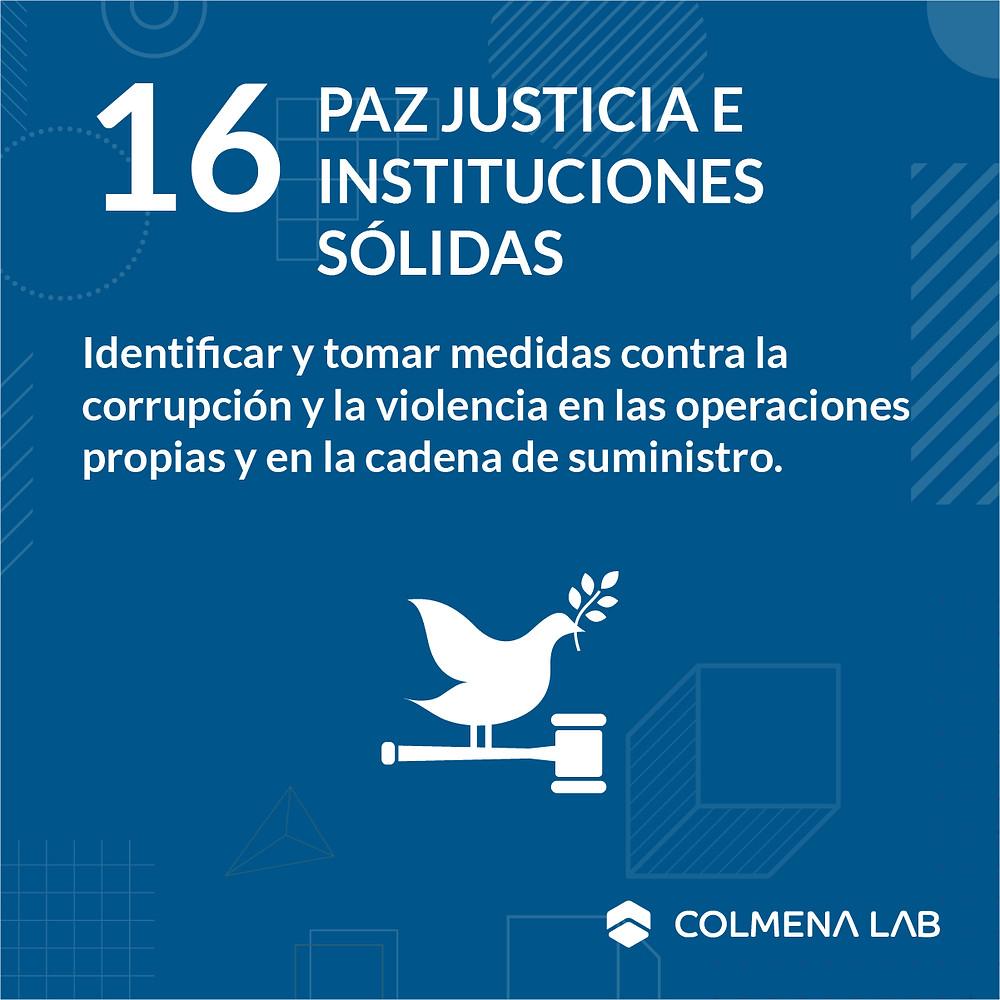 Objetivo de desarrollo sostenible 16 Paz Justicia e Instituciones Sólidas