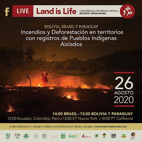 Deforestación en territorios con registro de pueblos indígenas aislados