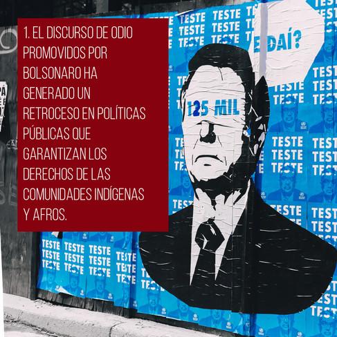 Arte para medios sociales sobre Jair Bolsonaro