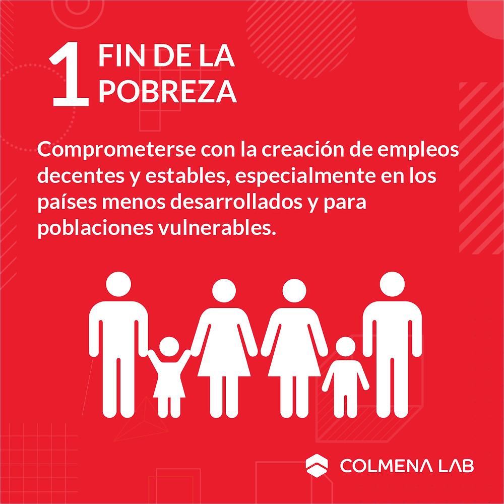 Objetivo de desarrollo sostenible 1 Fin de la Pobreza