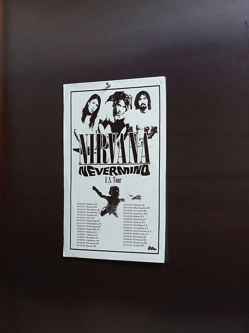 NIRVANA NEVERMIND U.S. TOUR / FLYER