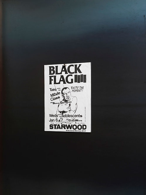BLACK FLAG / FLYER artwork by Pettibone
