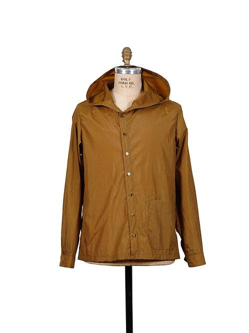 BLACKBIRD / hooded slant shirt - nylon -