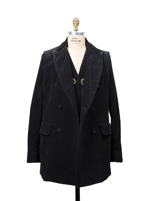 BLACKBIRD / layered double breasted jacket