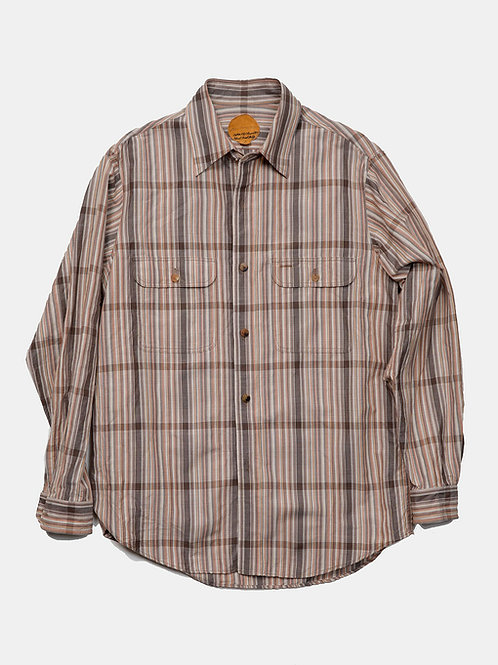 BLACKBIRD / work shirt -check-