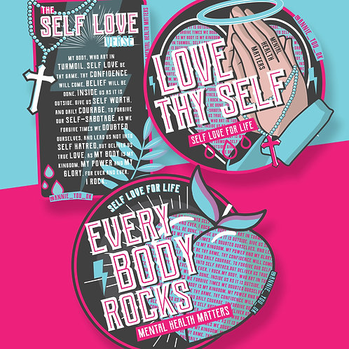 Self Love Stickers Pack of 3