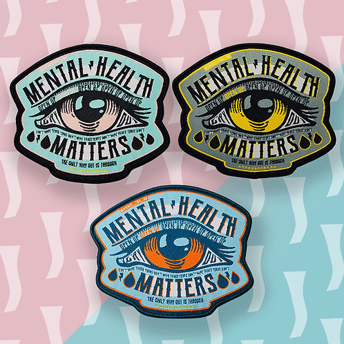 Mental Health Matters Iron on Patches