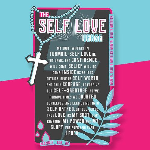 Self Love Verse Sticker