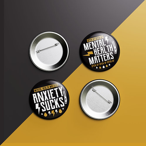 Mental Health Badges Pack of 2