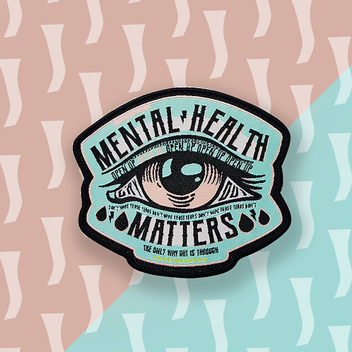 Green Mental Health Matters Iron on Patch