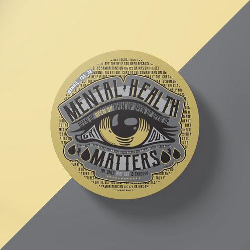Mental Health Matters Gold Sticker