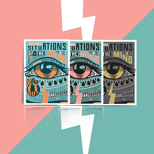 Situations of the Mind: Part One. Pack of 3 Postcards