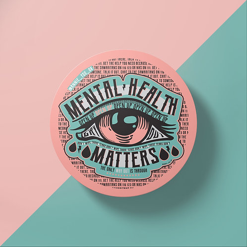 Mental Health Matters Pink Sticker