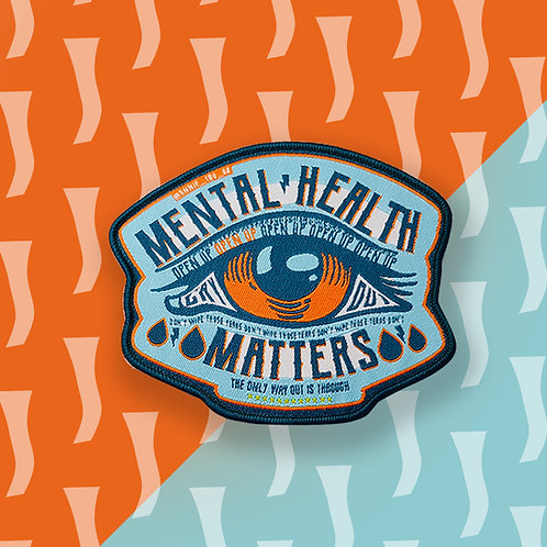 Blue Mental Health Matters Iron on Patch