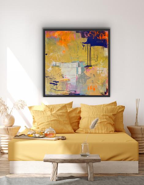 """26x26"""" Acrylic on canvas"""
