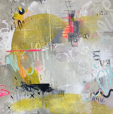 """LOVE LOVE LOVE 36x36"""" Acrylic on Canvas"""