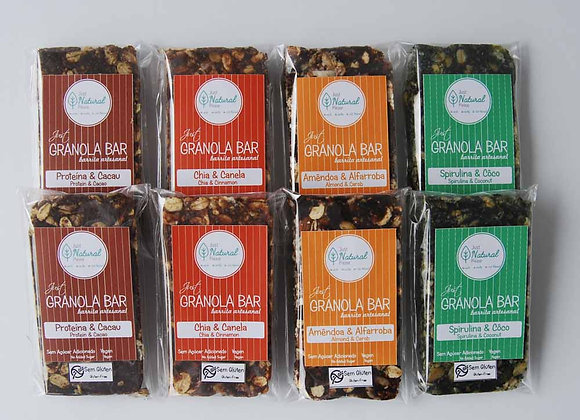 Pack 8 Just Granola Bars – 4 sabores