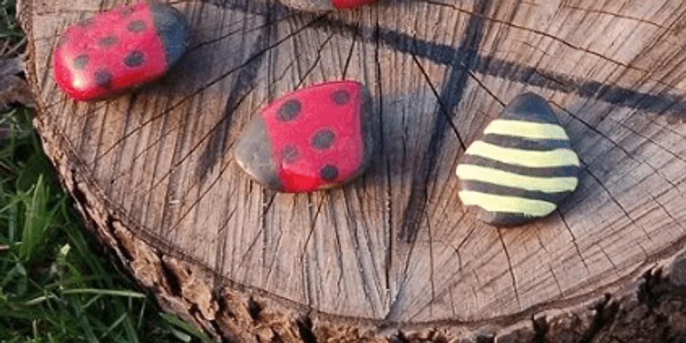 Pedras pintadas: O fantástico mundo da Horta/Jardim - Crianças