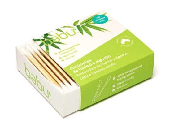 Cotonetes em bambu e algodão natural