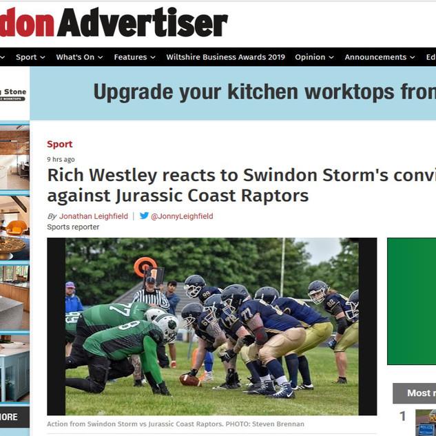 Swindon Storm Vs Raptors