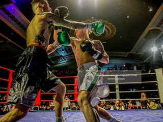 White collar boxing at the Mecca in Swindon