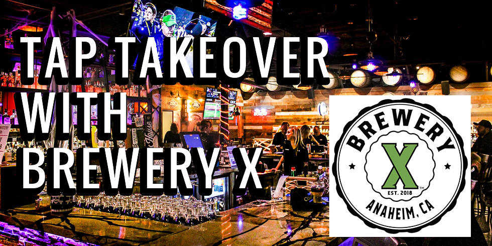 Brewery X Tap Takeover and Complimentary Beer Tasting!