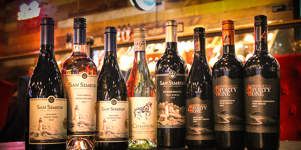 Complimentary Wine Tasting ft. San Simeon, Highlands 41, and The Champion!