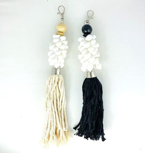 Porte-clés Coquillages Escargots & Pompon