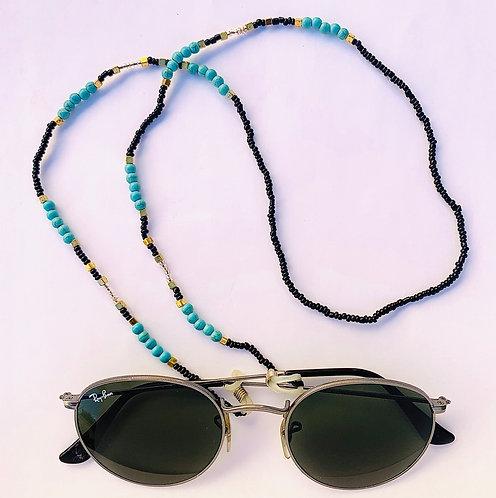 Chaîne à lunettes Perles de verre colorées