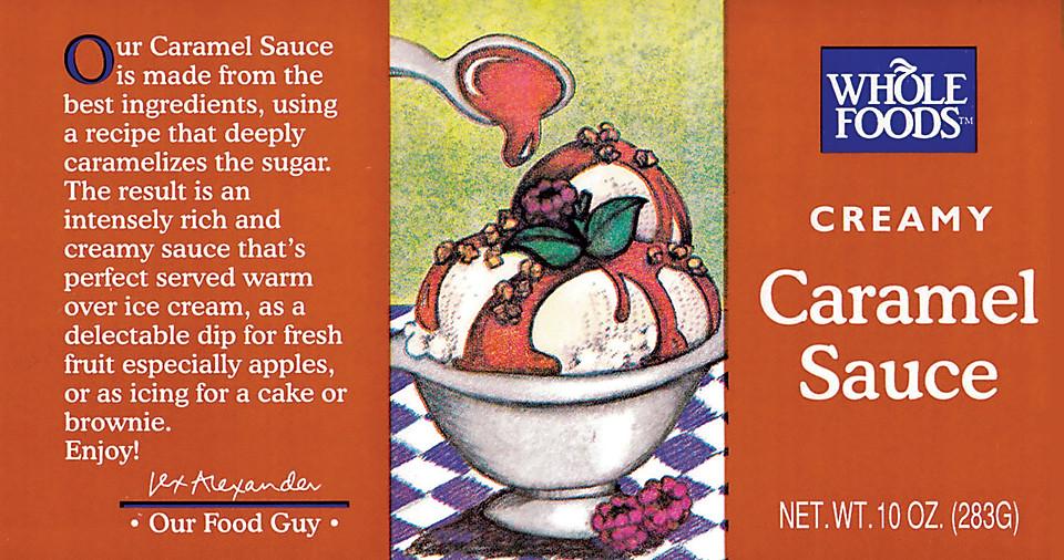 Illustration for a Caramel Sauce.