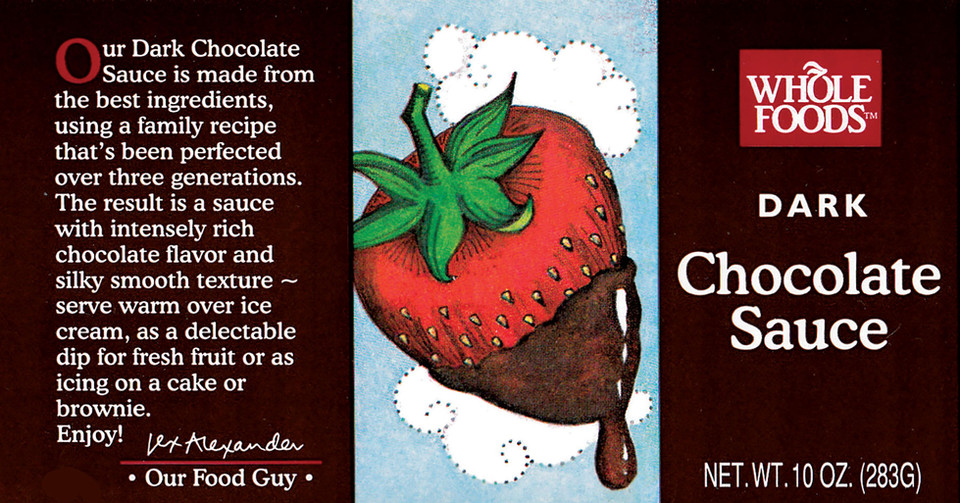 Luscious Strawberry image for a chocolate sauce label