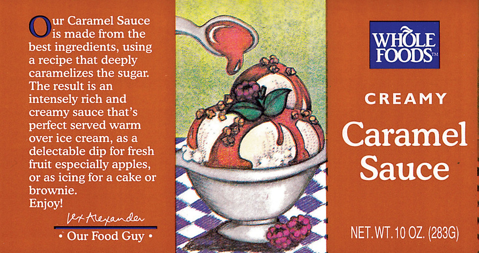 Caramel Sauce on Ice Cream