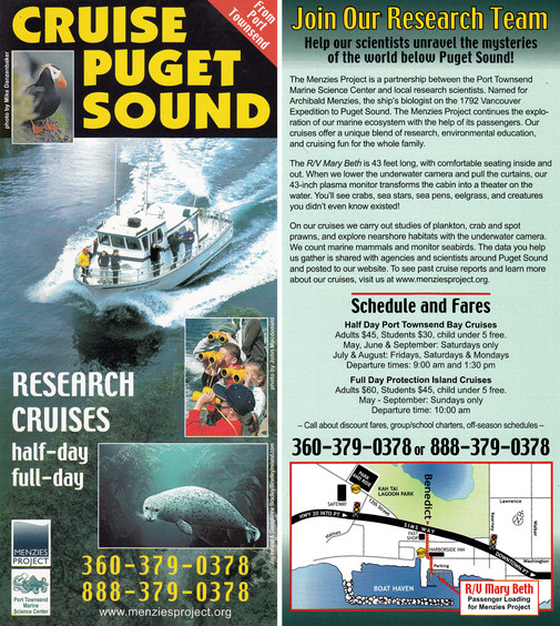 Protection Island Cruises Brochure
