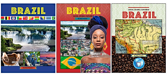 Cover Design Proposals for a Children's School Book about Countries