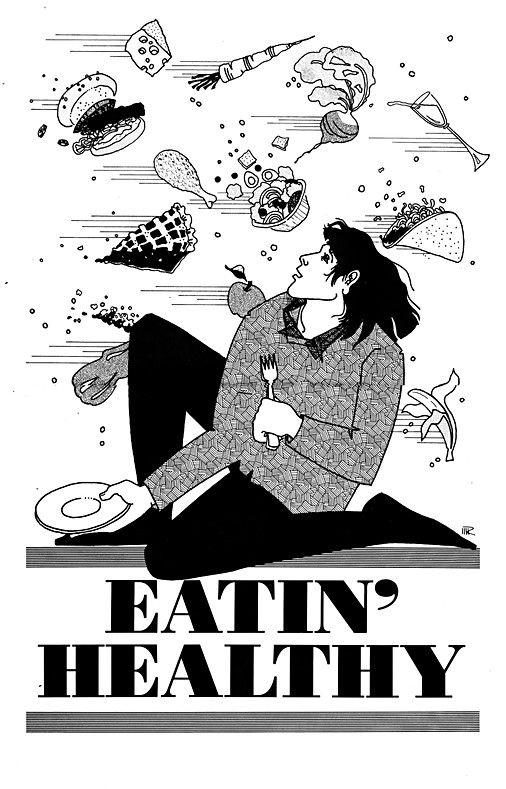 Healthy Eating Dilemma Illustration