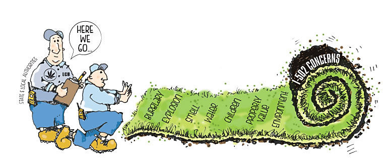 Editorial cartoon about the legalization of marijuana in Washington state