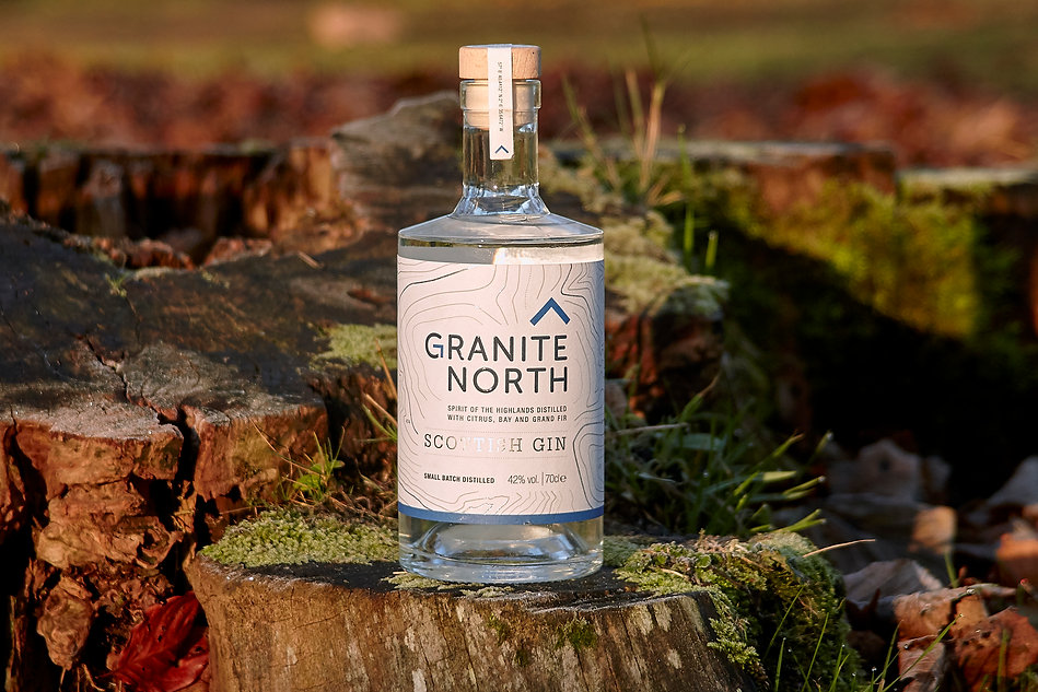 Granite North Gin Bottle Wood Stump Scottish Craft.jpg