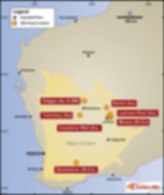 Golden Mile Resources project locations in Western Australia