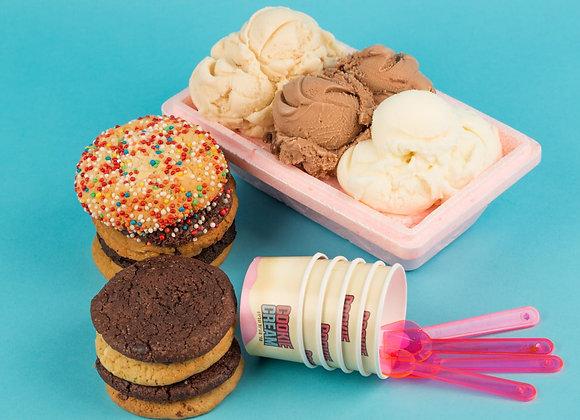 גלידה במשקל חצי קילו