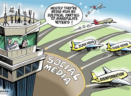 April 7, 2021 - Cartoon - Fake Media