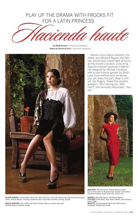 Houston Chronicle Gloss Magazine Feature November 2011