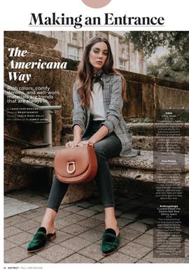 District Magazine Fall/ Winter Fashion Feature 2018