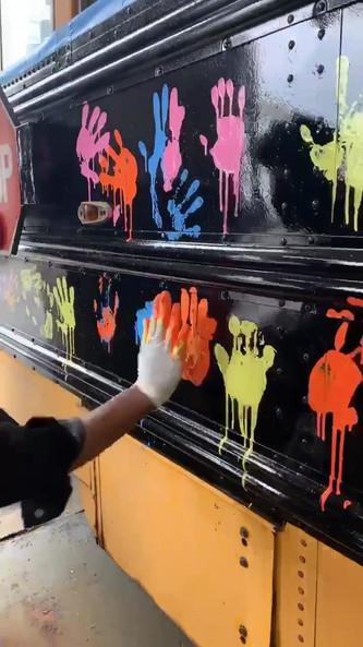 School Bus Painting