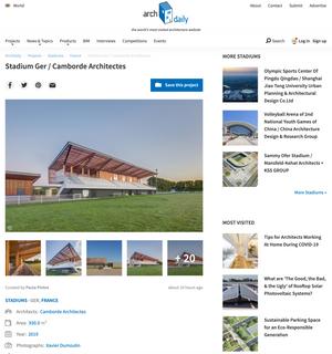 Publication sur Archi daily