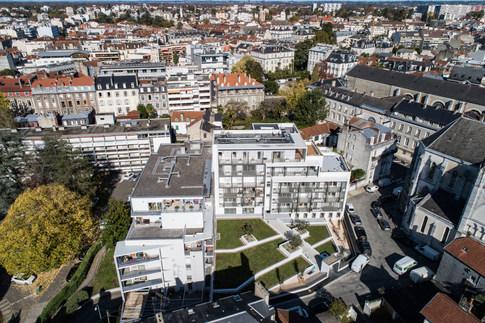 Drone Coeur st Jacques Pau Béarn Habitat