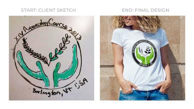 Client Sketch to Final Design